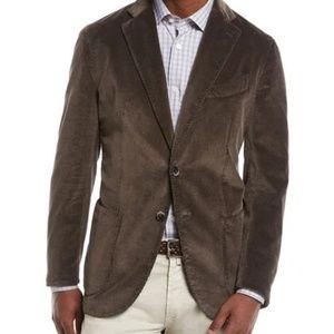 Canali Brown Suede 3 Button Jacket Blazer 42